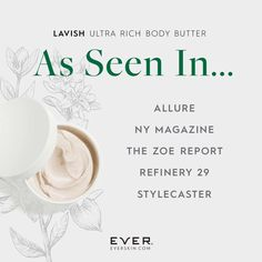 Lavish came back in stock YESTERDAY and I personally sold 48 of them! Why? Because it's an anti-aging body butter and it's phenomenal! I used it for a couple weeks prepping for my Punta Cana beach trip and I felt GREAT about the way my skin looked on the beach. So it's not only moisturizing but it also crepey skin, decreases inflammation, as well as the appearance of stretch marks and cellulite. There's nothing else like it...You'll love it! XOXO www.everskin.com/with/maryclaire/for/zp88u