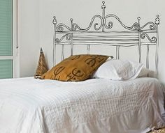 cabecero pintado #deco #dormitorios #cabeceros