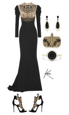 Tudor by kriostylist on Polyvore featuring polyvore, fashion, style, Reem Acra, Giuseppe Zanotti, Effy Jewelry, Alexander McQueen and clothing