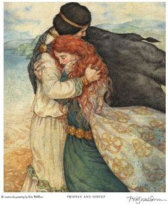 It's a real life fairy-tale, a love story to rival all the greats: Lancelot and Guinevere, Tristan and Isolde, Romeo and Juliet. Art And Illustration, Illustrations, Tristan Isolde, Arte Obscura, Celtic Mythology, Fairytale Art, Pre Raphaelite, Art Plastique, Fantasy Art