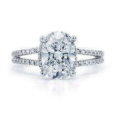 split shank oval 2 carat ring, breathtaking!