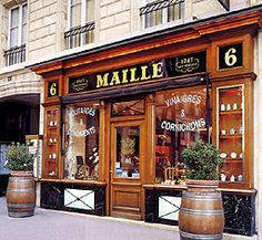 Moutards par Maille in Paris...numero 6 place de la Madeleine .... famous mustard maker shop.