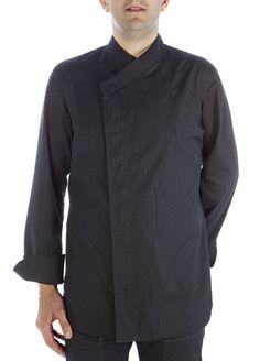 Chaqueta oriental negra  #chaquetascocinero #cocina #csty #uniformeshosteleria