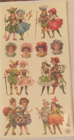 Wonderful new Victorian Violette beautiful fairies cute children flowers stickers for scrapbooking envelopes card making crafts Beautiful Fairies, Beautiful Flowers, Brand Stickers, Retro Floral, Cute Kids, Vintage World Maps, Card Making, Fairy, Victorian