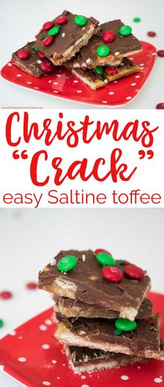 Christmas Crack is an easy to make Saltine cracker toffee that\'s the perfect holiday recipe for gifting! #dessert #recipe