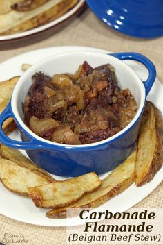 Carbonade Flamande is full of caramelized onions, bacon, and slow cooked beef making this Beef Stew from Belgium the perfect recipe for winter comfort food. | www.curiouscuisiniere.com