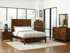 The Joyce collection has a transitional style with different elements making it unique while very stylish. The collection has everything you need to complete your bedroom. With clean straight lines there is a simple modern feel while each piece stands out with the varying wood grains drawing your eye in. The collection is constructed from select hardwoods and walnut veneers with English dovetail joinery and full extension drawer glides. Create a relaxing and peaceful environment in your ...