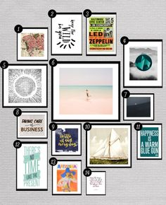 A roundup of fun, trendy and beautiful free printables for gallery walls. From cameras to oceans to inspirational quotes, we've got your hip prints here.