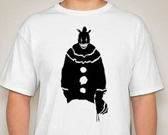 Twisty the Clown from America Horror Story. by DJsDecals on Etsy Horror Stories, Cool Artwork, Colorful Shirts, Decals, America, Mens Tops, Etsy, Tags, Decal