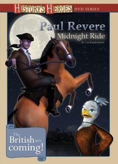 Paul Revere: Midnight Ride American Animation Studios Paul Revere, Patriotic Movies, Parents Choice, Award Winner, Social Studies, 3 D, Movie Tv, Parenting, Classroom