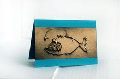 Blank greeting card A6 4x6 Handmade card for men Cute by 5erg