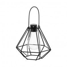 EGLO Solar-Vintage Hängeleuchte, Drahtkörper mit Leuchtmittel; Stahl, schwarz