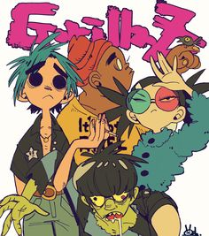 Gorillaz is such an amazing band Illustrations, Illustration Art, Art Sketches, Art Drawings, Gorillaz Fan Art, Arte Do Kawaii, Tv Movie, Posca Art, Chef D Oeuvre