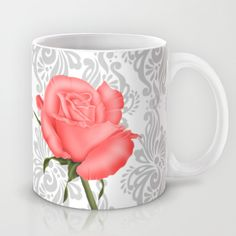 #colorful #flowers #rose #roses #floral #beauty #pretty #beautiful #red #mugs Available in different #society6 #homedecor products too.