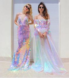 Love the sequins on the dresses and the dress of course. Pretty Dresses, Beautiful Dresses, Harajuku, Mode Chanel, Prom Dresses, Wedding Dresses, Mermaid Dresses, Mermaid Sequin Dress, Mermaid Outfit