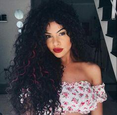 Dyed Curly Hair, Curly Girl, Wavy Hair, Ethnic Hairstyles, Baddie Hairstyles, Medium Hair Styles, Curly Hair Styles, Natural Hair Styles, Different Hair Types
