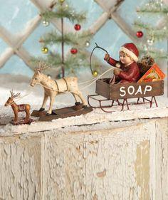 Old Fashion Christmas Decorations | Dash Away Table at TheHolidayBarn.com