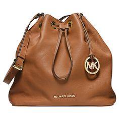Buy MICHAEL Michael Kors Jules Drawstring Leather Shoulder Bag Online at johnlewis.com