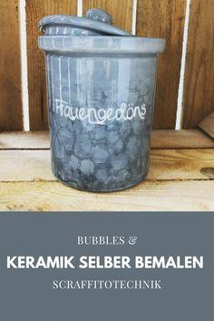 Bubbles & Scraffitotechnik Painted Ceramics, Ceramic Painting, Bubbles, Painted Pottery