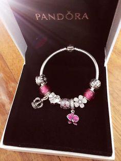50% OFF!!! $239 Pandora Charm Bracelet Purple. Hot Sale!!! SKU: CB01814 - PANDORA Bracelet Ideas