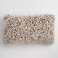 Oversized Mocha Mongolian Faux Fur Lumbar Pillow: Brown by World Market Oversized Throw Pillows, Faux Fur Throw, Sofa Throw, Throw Cushions, Decorative Throw Pillows, Fluffy Cushions, Fur Pillow, Lumbar Pillow, Dear Lillie