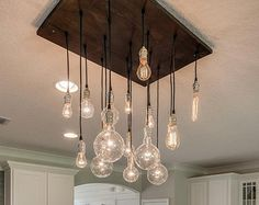 Nostalgic Reclaimed Wood Chandelier With Varying by urbanchandy