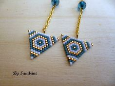 Brick Stitch Earrings, Seed Bead Earrings, Diy Earrings, Bead Jewellery, Diy Jewelry, Beaded Jewelry, Jewelry Making, Beaded Earrings Patterns, Beading Patterns