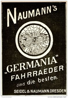 Original-Werbung/ Anzeige 1898 - GERMANIA FAHRRÄDER / SEIDEL & NAUMANN…