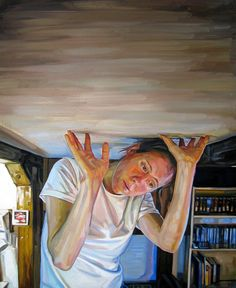 Self Portrait, Heavy by Heather Horton on Curiator, the world's biggest collaborative art collection. Ap Studio Art, Painting Studio, Ap Drawing, Perspective Art, Forced Perspective, Portrait Images, Modern Portraits, Digital Museum, Collaborative Art