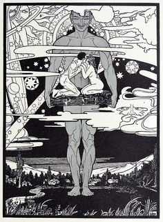 The land of illusion. Ephraim Mose Lilien, from The new art of an ancient people; the work of Ephraim Mose Lilien, by M. Levussove, New . Gravure Illustration, Vintage Illustration Art, Illustrations, Ex Libris, Art Nouveau, La Madone, Pop Art, Esoteric Art, Unusual Art