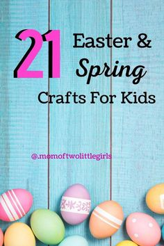 21 Easter and Spring Crafts For Kids - perfect for ages 6 to 10 years old. Egg Crafts, Bunny Crafts, Flower Crafts, Paper Crafts, Easter Activities, Family Activities, World Book Day Costumes, Kids Origami, Easter Gift Baskets