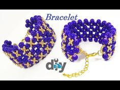 Diy And Crafts, Arts And Crafts, Beaded Bracelets Tutorial, Bead Weaving, Beaded Jewelry, Crochet Earrings, Decoration, Pearls, Crystals