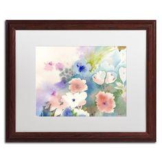 'Mystic Garden' by Sheila Golden Framed Painting Print