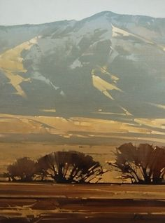 2007, Warm Blue by Joseph Alleman Oil ~ 24 x 18