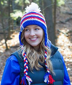 USA Peak - free crochet earflap hat pattern  by Sheri Goad