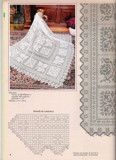 View album on Yandex. Filet Crochet Charts, Crochet Diagram, Crochet Motif, Crochet Designs, Crochet Doilies, Hand Crochet, Crochet Patterns, Crochet Bedspread Pattern, Crochet Curtains