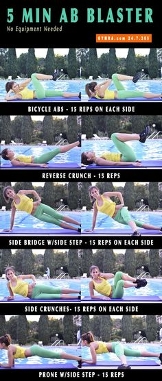 Twenty Five Ways to Slim Your Tummy Fast 5 Min Workout. Short & sweet routine to sculpt & slim! Keep Fit, Stay Fit, Health And Wellness, Health Fitness, Sport Fitness, Zumba, Get In Shape, How To Stay Healthy, Fitness Inspiration