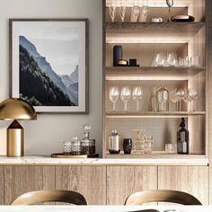 56 Trendy Home Bar Storage Furniture Living Room Built Ins, Living Room Bar, Mini Bars, Interior Design Living Room, Living Room Designs, Interior Designing, Kitchen Pantry Cabinets, Kitchen Wood, Kitchen Shelves