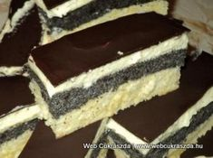 Sweets Recipes, Fun Desserts, Cookie Recipes, Hungarian Desserts, Hungarian Recipes, Torte Cake, Cake Bars, Sweet And Salty, Cakes And More