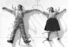 Charles and Ray Eames:  20th Century American designers, husband and wife.