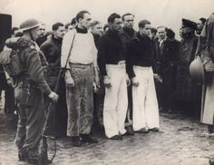Bismarck survivors as prisoners of war after they arrived in Britain on May 1941.
