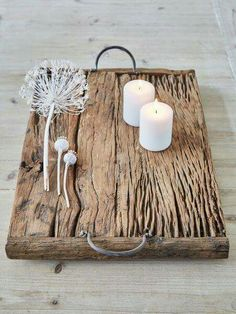 Lovely rustic wooden tray. More