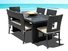 Outdoor Patio Wicker Furniture New Resin 6 Pc Dining Table Set with Chairs & Bench Set by Cassona Outdoor living, http://www.amazon.com/dp/B0038ZPQ1C/ref=cm_sw_r_pi_dp_0fGeqb16D8J0Y