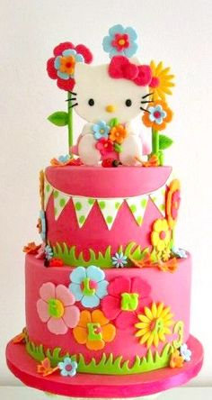 True love is a hello kitty birthday cake like this.