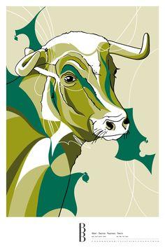 Sternzeichen Stier / Zodiac sign Taurus Moose Art, Illustration, Animals, Astrology, Stars, Animales, Animaux, Illustrations, Animal Memes