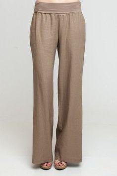 Fold-Over Lien Pants