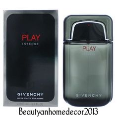 Givenchy Play Intense by Givenchy 3.4 oz EDT Cologne Spray for Men New in Box…