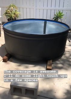 Our stock tank pool {part one} Stock Pools, Stock Tank Pool, Small Backyard Pools, Diy Pool, Small Pools, Livestock Tank, Pool Paint, Cheap Pool, Natural Swimming Pools