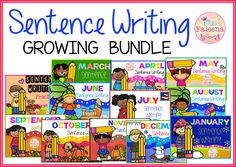 SAVE NOW!! This growing bundle increases in price every time a new set is added! Please note that this is a Growing Bundle and not yet complete!  There are 240 pages of sentence writing worksheets in this Growing Bundle when complete. These pages are great for pre-K, kindergarten and first grade students. Children will practice reading and writing. Children are encouraged to use thinking skills while improving their comprehension and writing skills.
