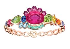 Dior - From Granville Collection - Multicolor bracelet mounted on rose gold with pink tourmaline
